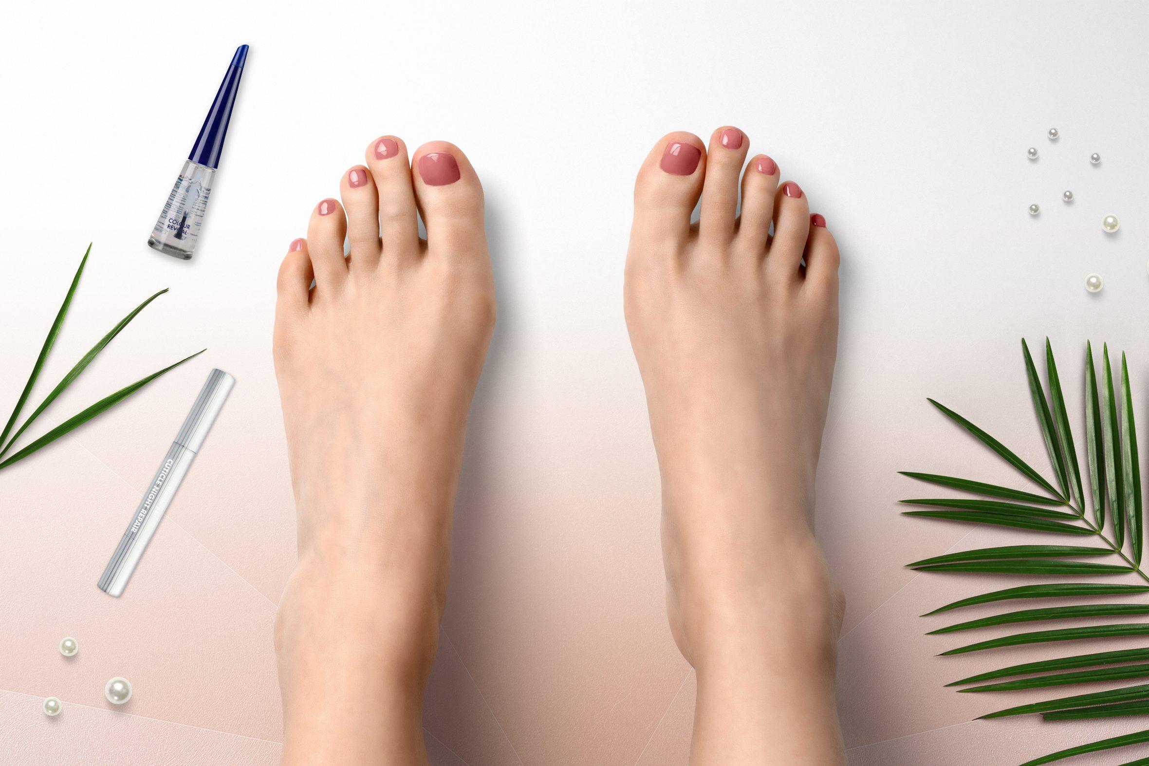 Herôme nagellak kleur nummer 10 op teennagels
