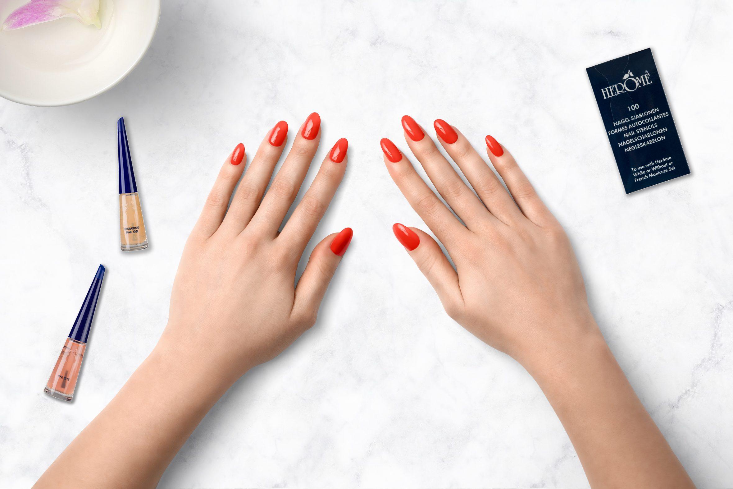 Perzik nagellak kleur op je nagels