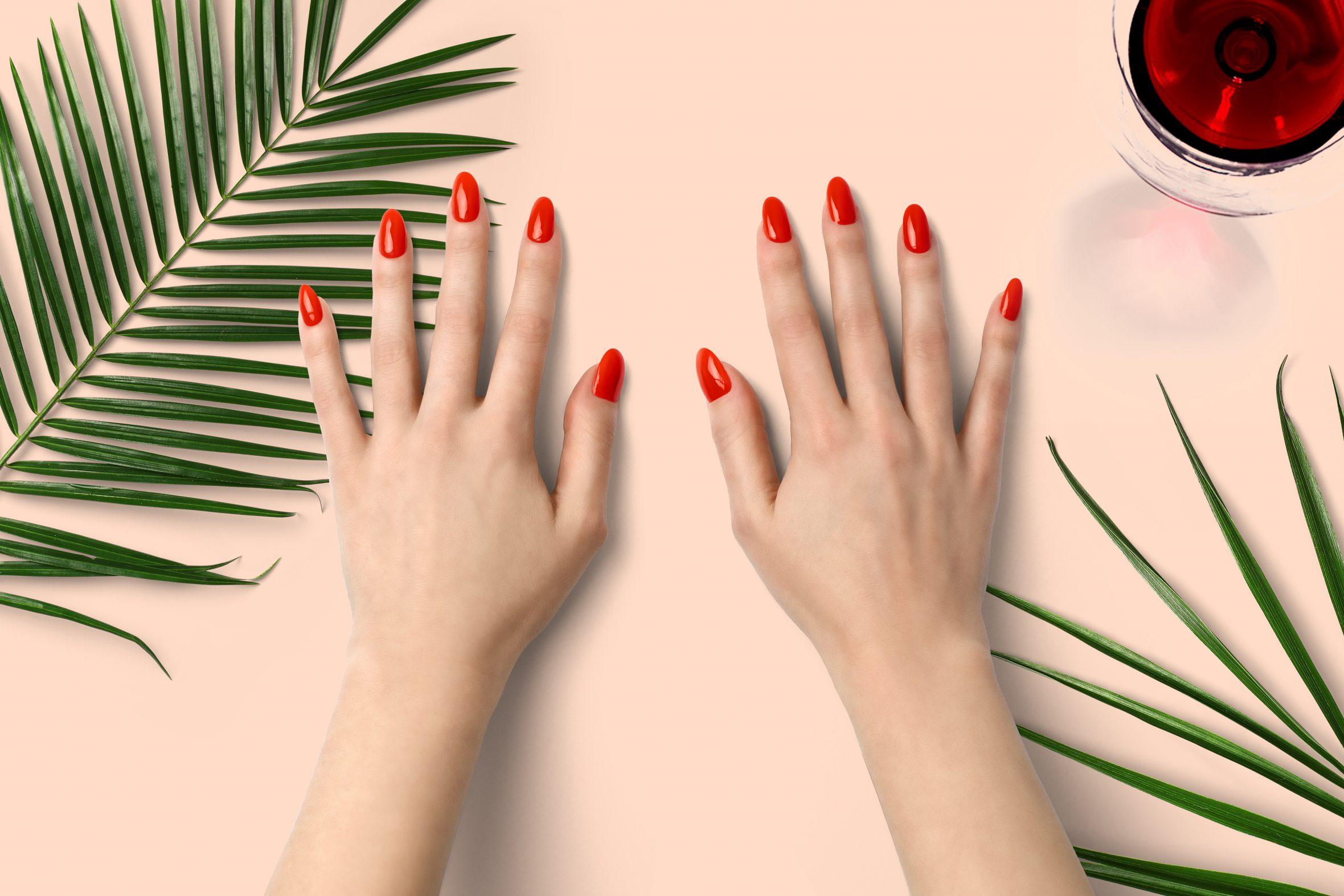 Oranje nagellak voor je manicure