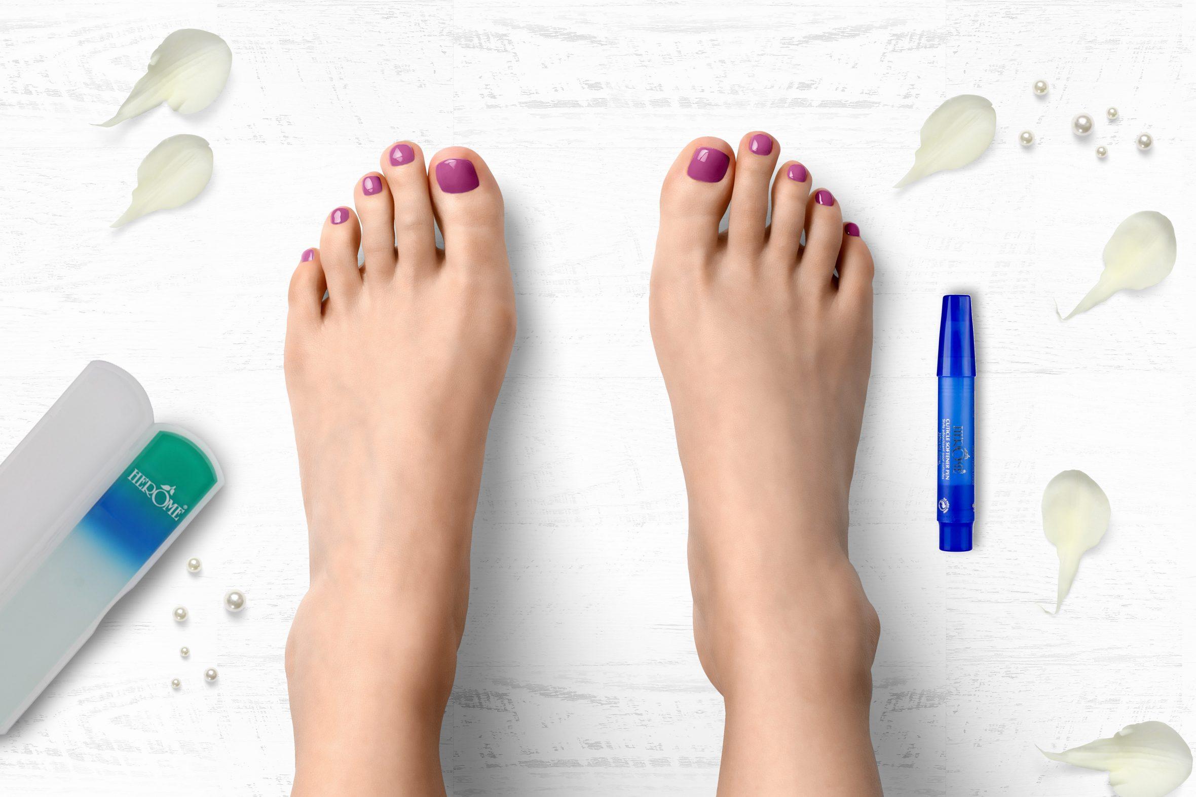 Paarse nagellak van Herôme voor een lente/zomer manicure