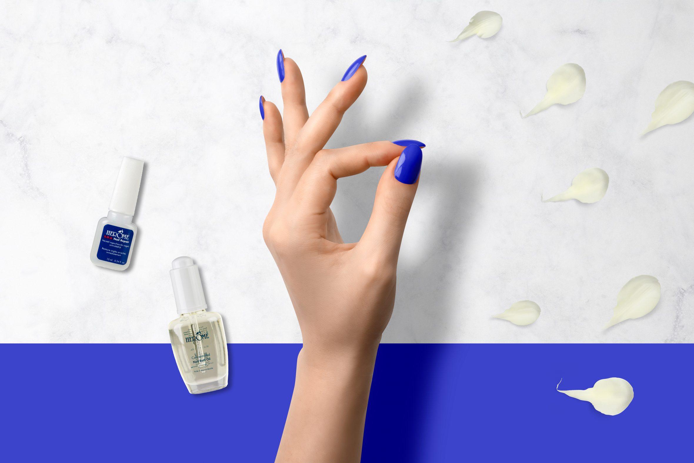 kobaltblauwe nagellak kopen van Herôme