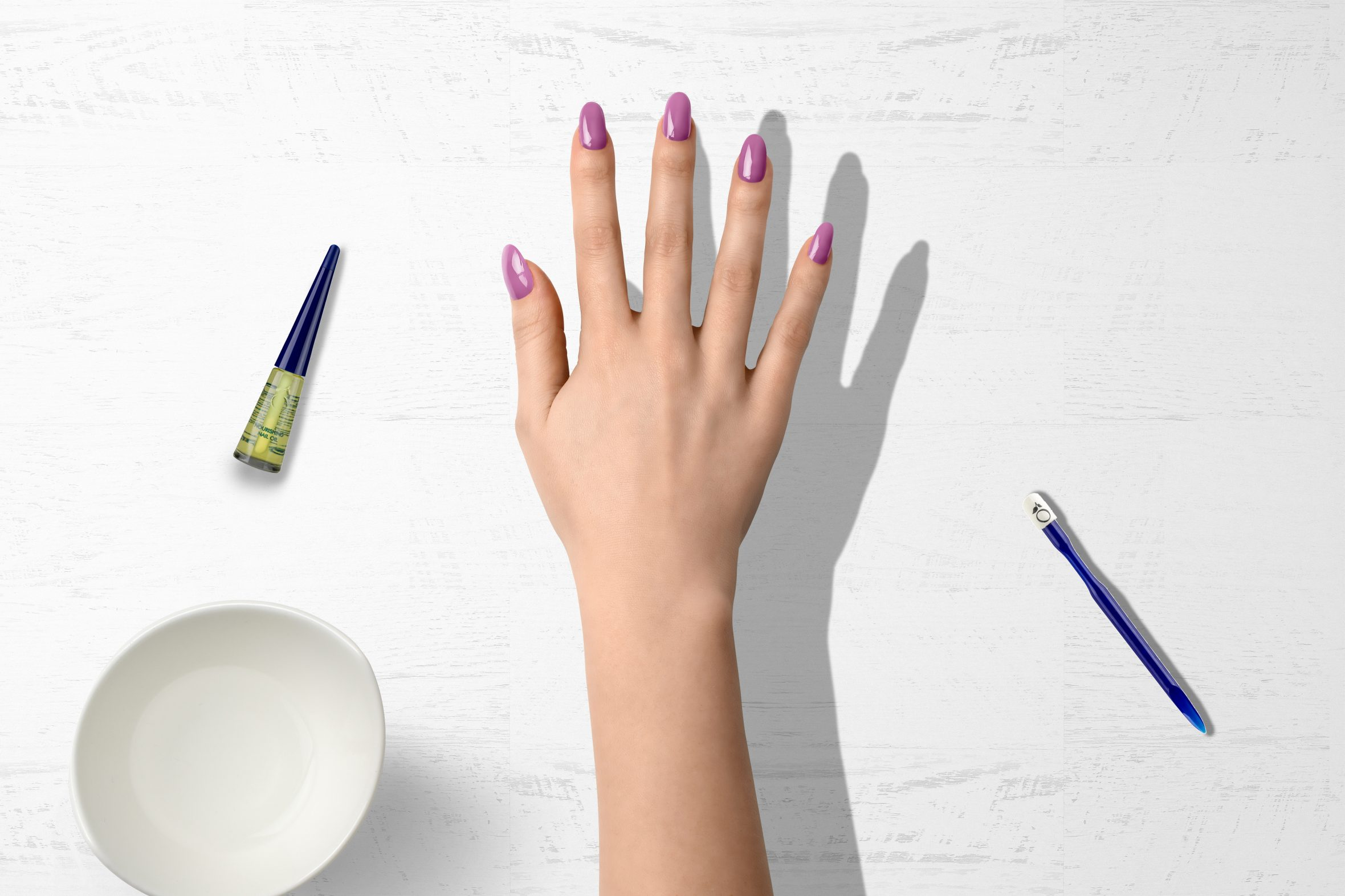 Licht paarse nagellak van Herôme voor je manicure