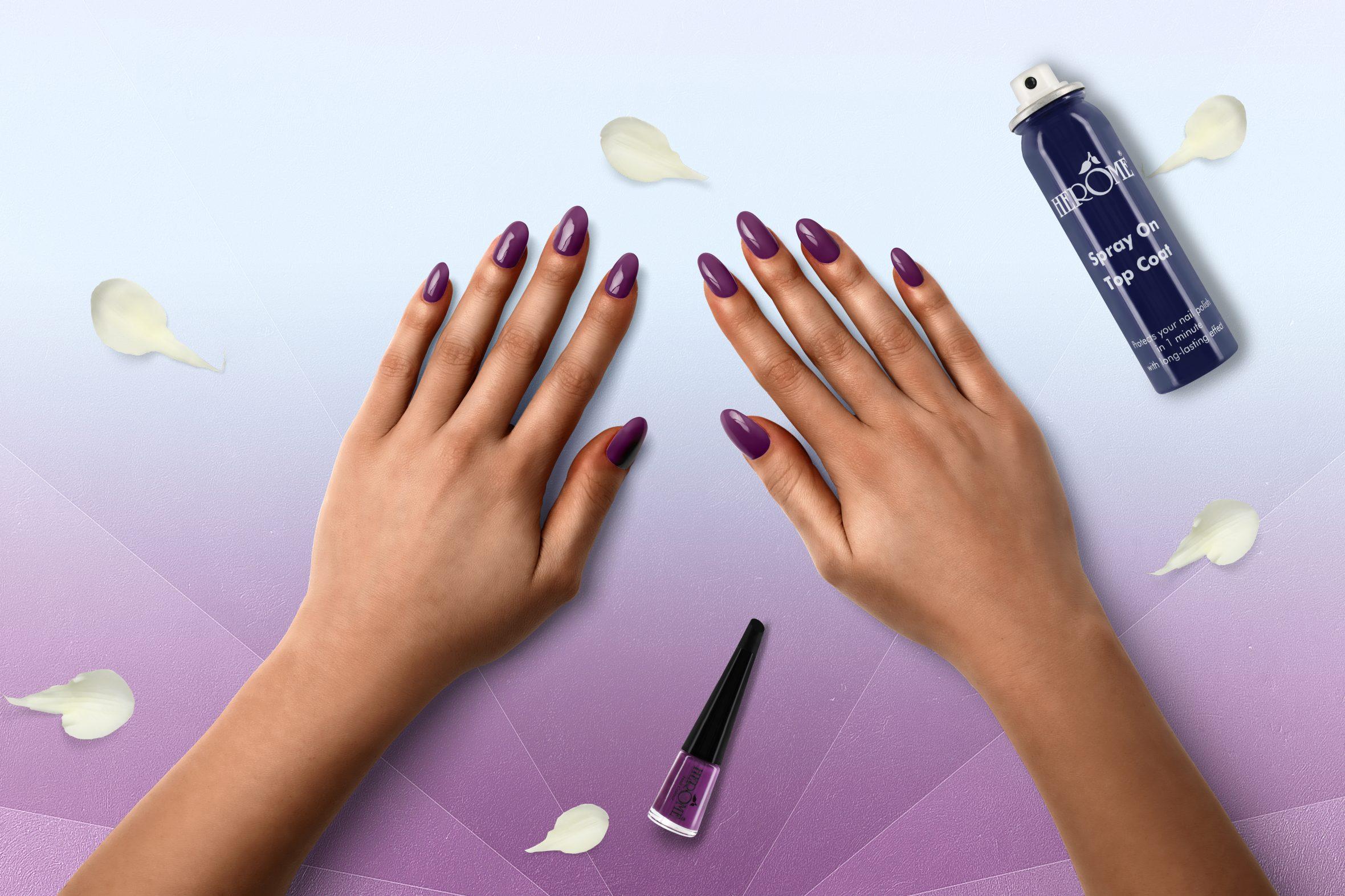 Donker paarse nagellak voor je manicure