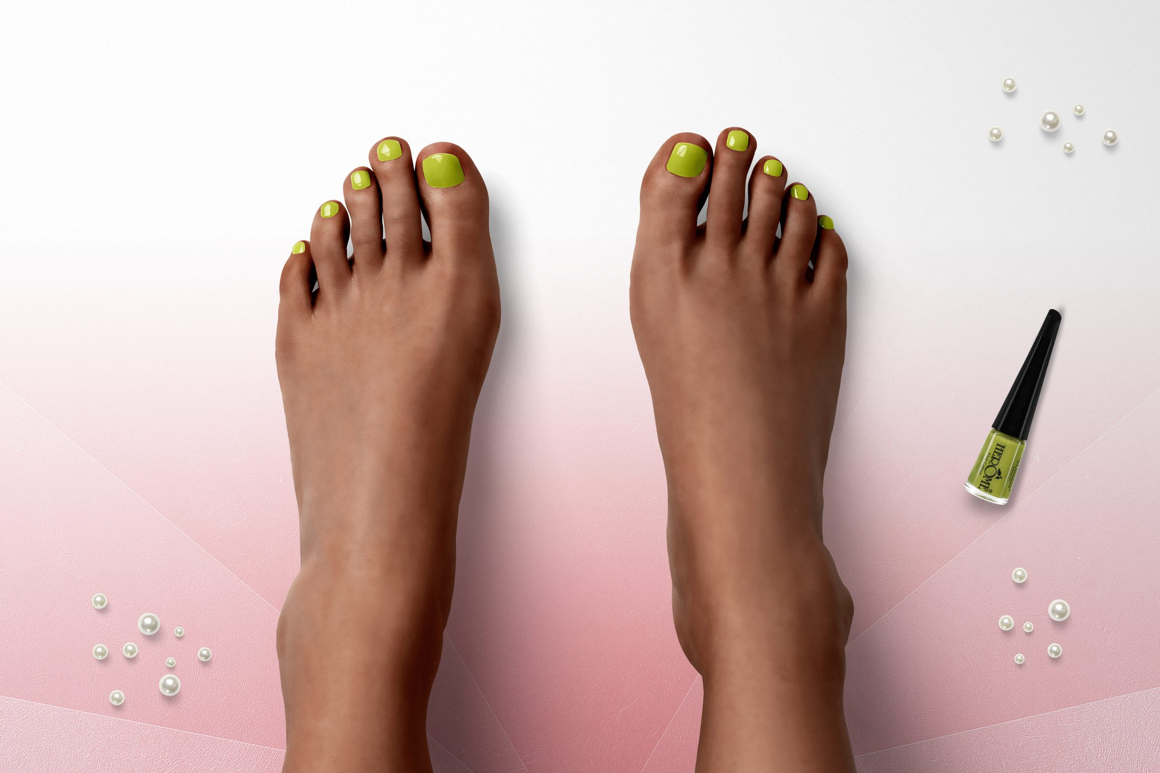 Lime groen nagellak voor je pedicure