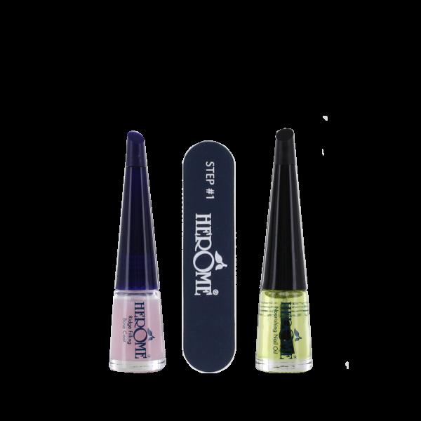 Nail Essentials Set voor herstellen van droge en geribbelde nagels